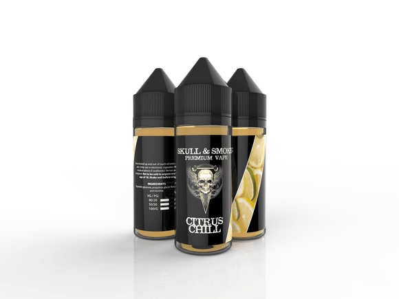 Lemon Lime (citrus chill) Skull and Smoke E-liquid 120ml Short Fill