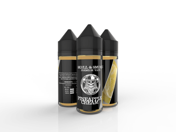 Pineapple Cream Skull and Smoke E-liquid 120ml Short Fill