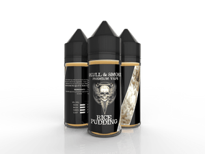 Rice Pudding Skull and Smoke E-liquid 120ml Short Fill