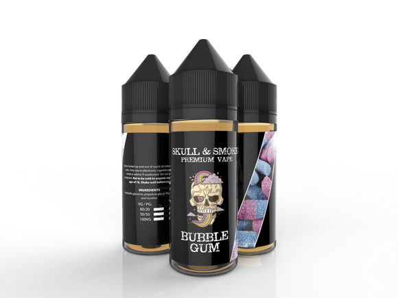 Bubblegum Skull and Smoke E-liquid 120ml shortfill