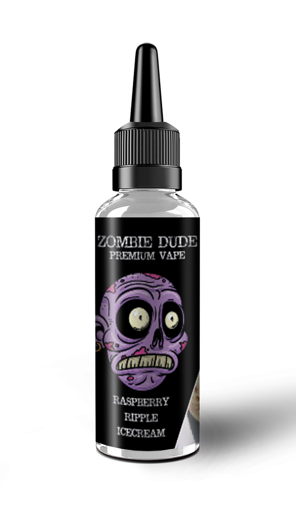 RASPBERRY RIPPLE ICE CREAM BY ZOMBIE  DUDE E-LIQUID 100ml