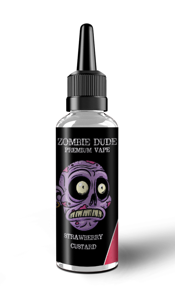 STRAWBERRY CUSTARD BY ZOMBIE  DUDE E-LIQUID 100ml