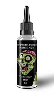 STRAWBERRY MINT ICE BY ZOMBIE DUDE E-LIQUID 120ml Short Fill