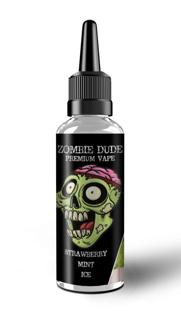 STRAWBERRY MINT ICE BY ZOMBIE DUDE E-LIQUID 100ml