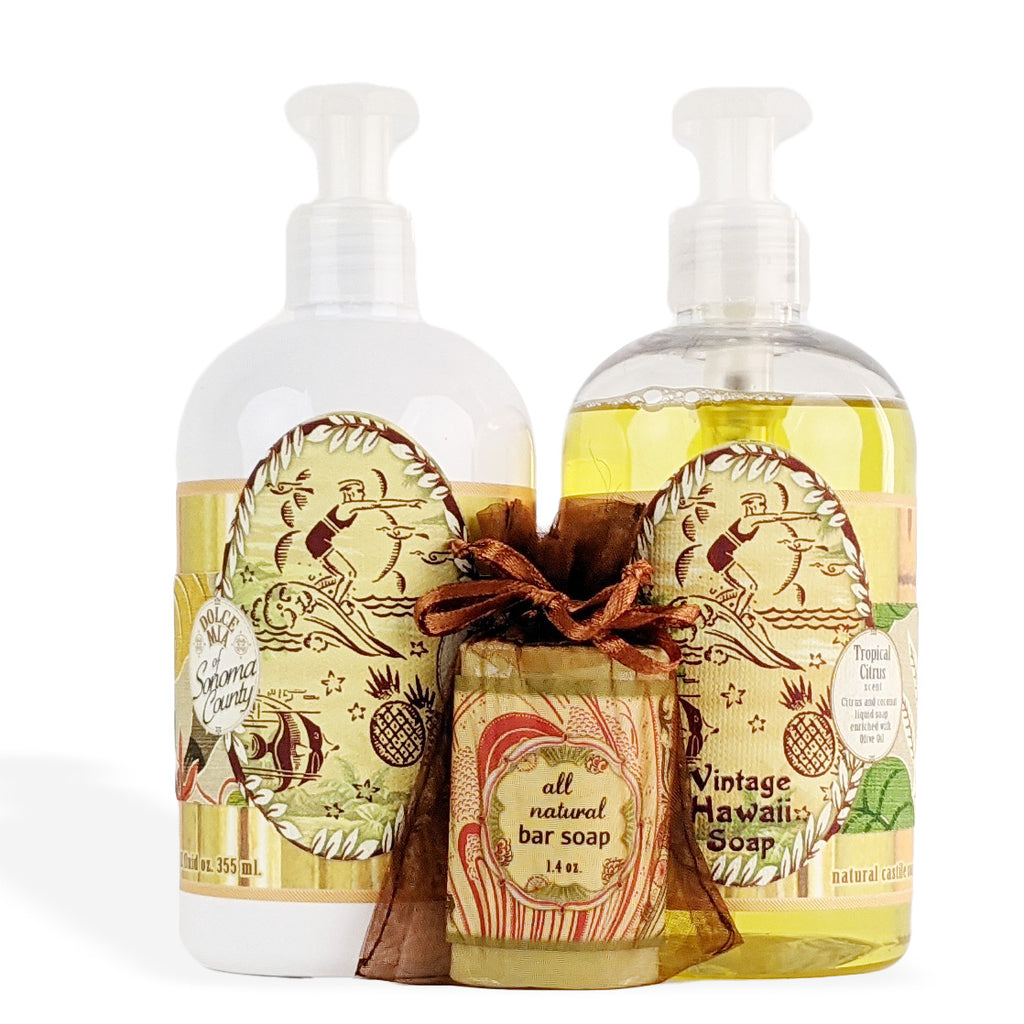 Dolce Mia Lotion & Liquid Soap Gift Set  | Tropical Citrus | Vintage Hawaiian