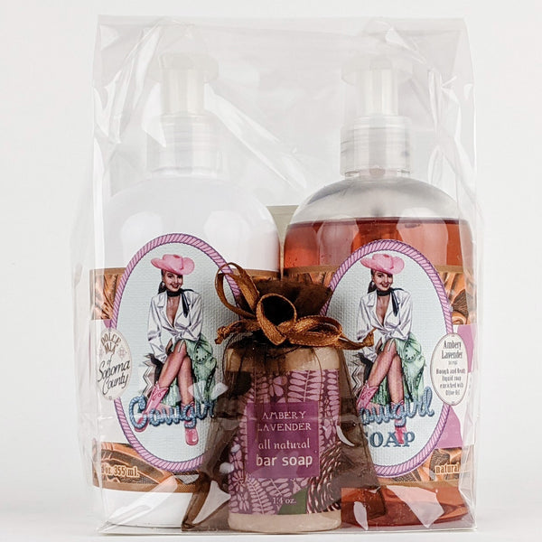 Dolce Mia Lotion & Liquid Soap Gift Set | Ambery Lavender | Vintage Cowgirl
