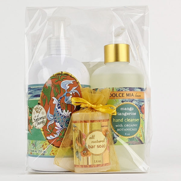 Dolce Mia Lotion & Hand Sanitizer Gift Set | Mango Tangerine | Vintage Tropical