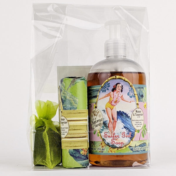 Dolce Mia Liquid and Bar Soap Gift Set | Mango Tangerine | Vintage Surfer