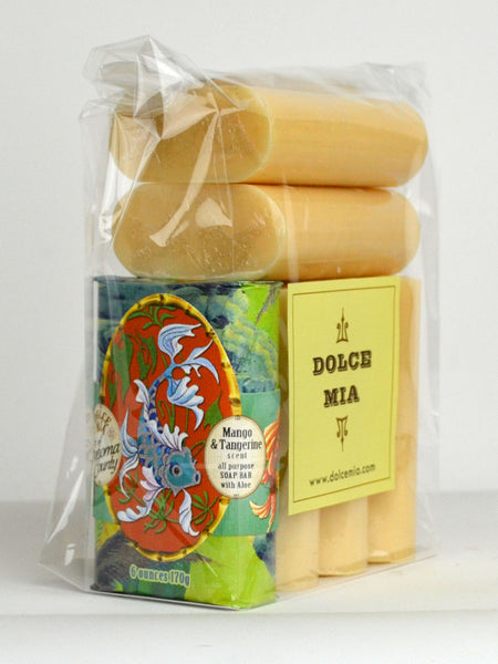 Finished Goods-Packaged Set--6 Items-Mango Tangerine-Soap Bar Super Set