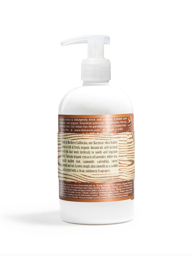 Back view Barn Star Lotion