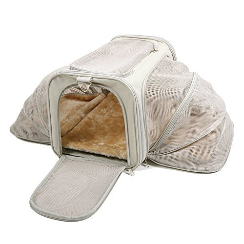 Jet Sitter Luxury Expandable Soft Sided Dog Cat Pet Carrier - Airline Approved Airplane Cat Carriers