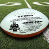 (AF43) AMERICAN FOOTBALL BALL - GRANDMA TO GRANDSON - NEVER LOSE