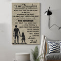 (cv139) family Poster - to my daughter