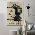 (cv186) samurai poster - turn your passion into the sharpest weapon
