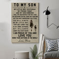 (cv44) family Poster - to my son