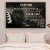 (CV541) American football Poster - son mom - never lose LDA