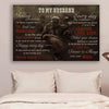 (CV590) American football poster - to my husband to day every day LDA
