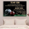 (cvlhd2) Football Poster - dad to son - never lose