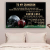(cvlhd4) Football Poster - grandmother to grandson - never lose