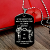 (DR007) CALL ON ME BROTHER BLACK DOG TAG ENGRAVED