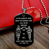 (S007) SOLDIER CALL ON ME BROTHER BLACK DOG TAG ENGRAVED