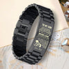 (TR34) American football bracelet - son dad LDA