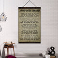 (CV115) firefighter canvas with the wood frame - a firefighter's prayer