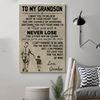 (cv173) family poster - to my grandson