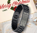 (fs14) family bracelet black - to my son, love dad
