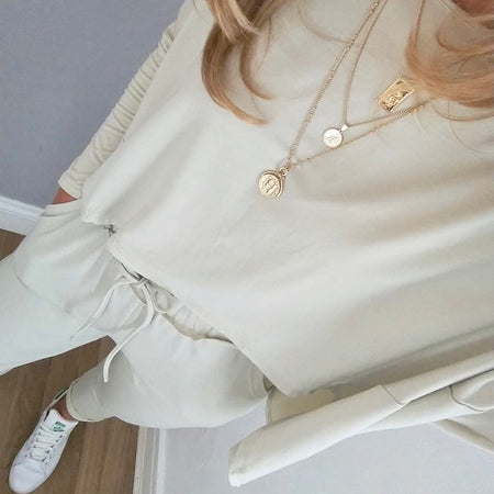 Button Detail Top White