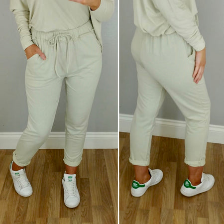 PU Leggings White