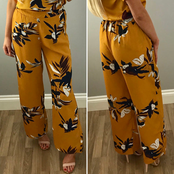 Mustard Floral Trouser