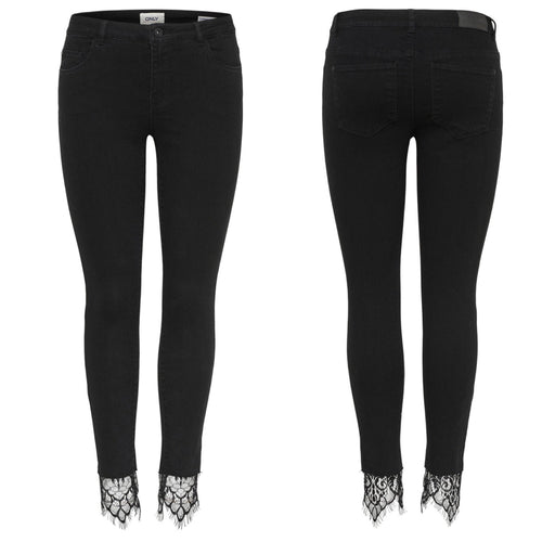 Lace Ankle Jean Black