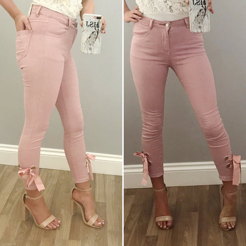 Pink Bow Jean