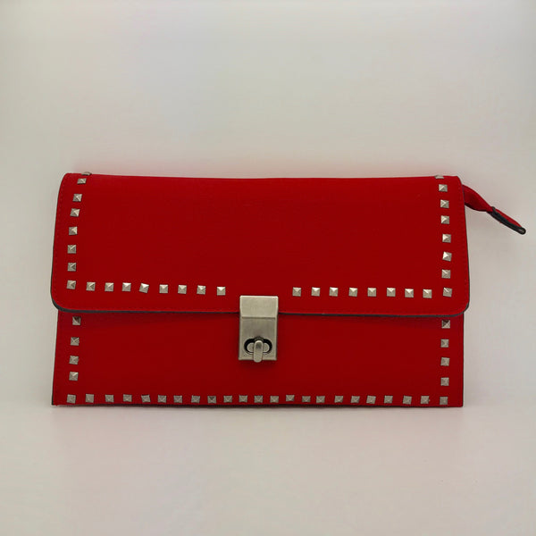 Large Rectangular Studded Clutch