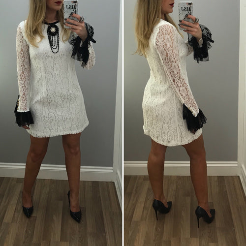 White Lace Occasional Dress