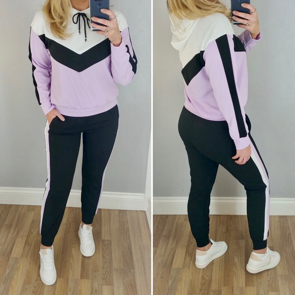 Colour Block Tracksuit Lilac