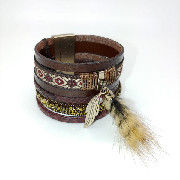 Aztec & Feather Cuff