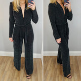 Sparkly Wide Leg Jumpsuit