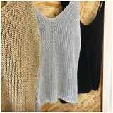 Metallic Knit Cami