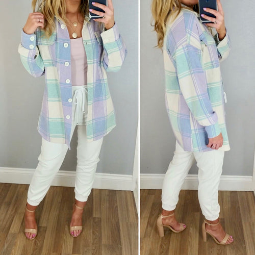 Pastel Check Heavy Weight Shirt