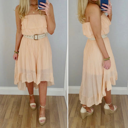 Light Tie Denim Dress