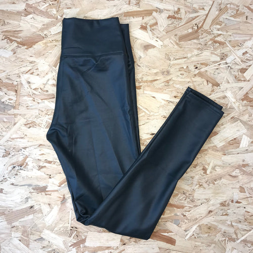 Black High Waisted Leather Look Leggings