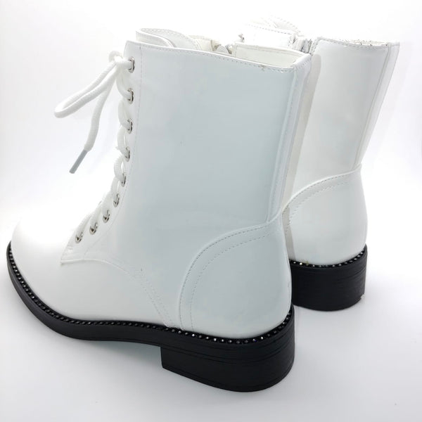 Diamante Trim Patent Boot