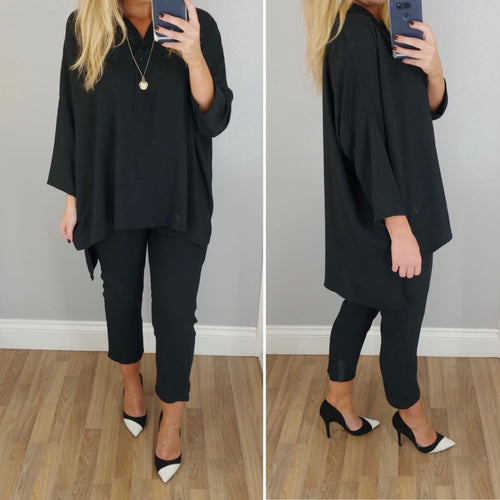 Black Boxy Co-ord