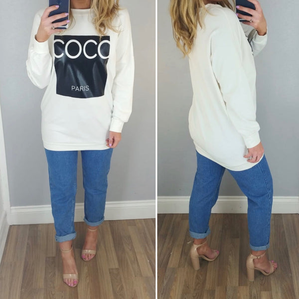 Co Co Sweatshirt Cream