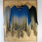 Faded Satin Leopard Top (Assorted Colours)