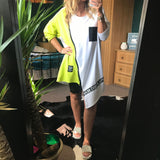 Asymmetric Colour Block T Dress