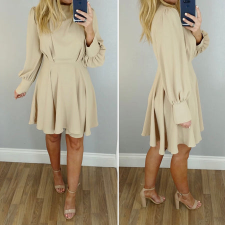 Metallic & Tassel Crepe Dress