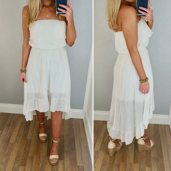 White Bardot Floaty Dress